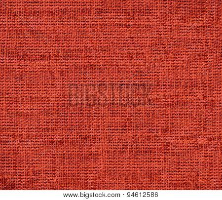 Dark pastel red burlap texture background