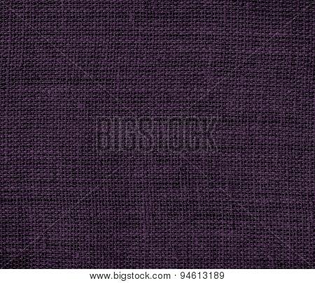 Dark purple burlap texture background