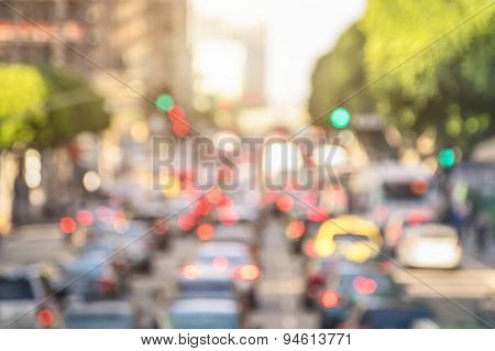 Blurred Background Rush Hour With