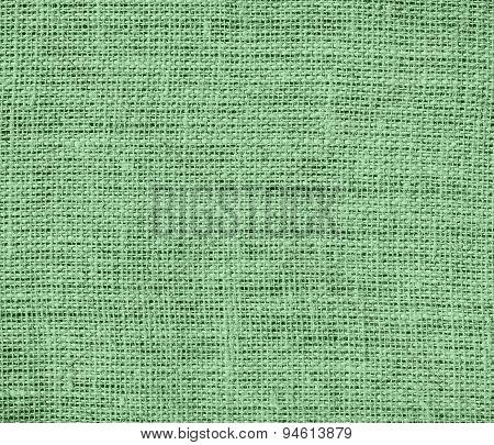 Dark sea green burlap texture background