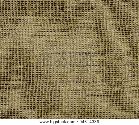 Dark tan burlap texture background