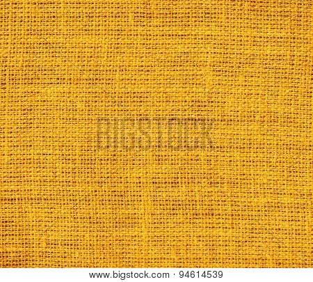 Dark tangerine burlap texture background