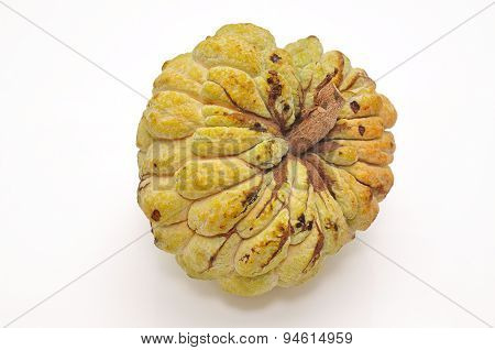 Vietnamese custard apple on a white background