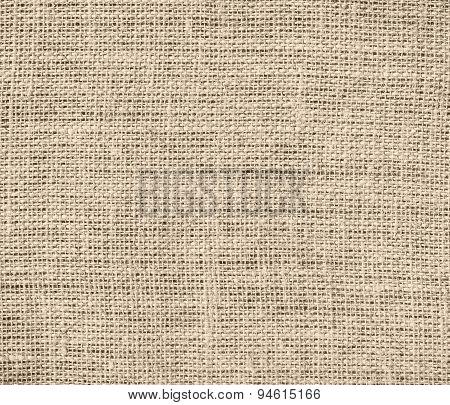 Dark vanilla burlap texture background