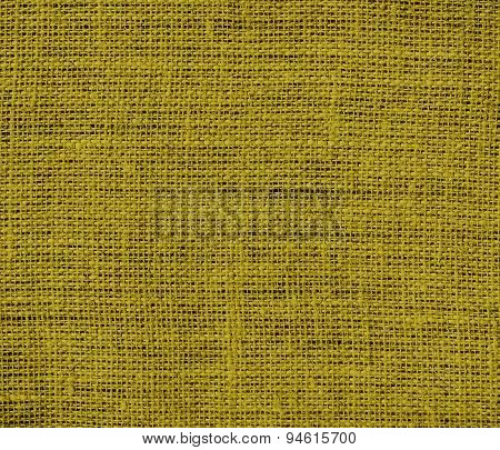 Dark yellow burlap texture background