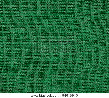 Dartmouth green burlap texture background
