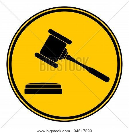 Judge Gavel Button.