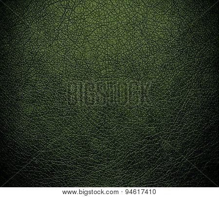 Dark moss green leather texture background