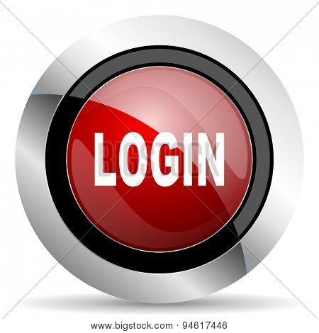login red glossy web icon original modern design for web and mobile app on white background