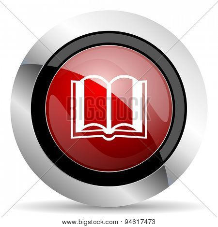book red glossy web icon original modern design for web and mobile app on white background
