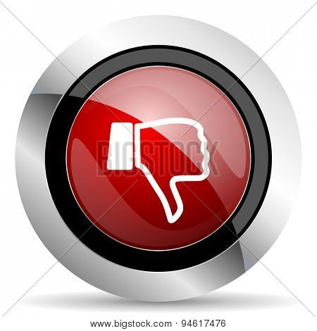 dislike red glossy web icon original modern design for web and mobile app on white background