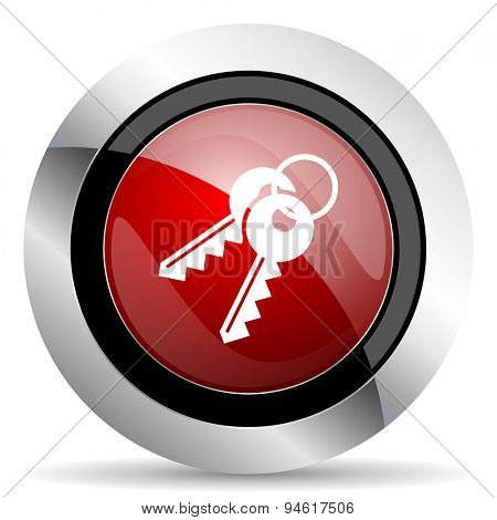 keys red glossy web icon original modern design for web and mobile app on white background