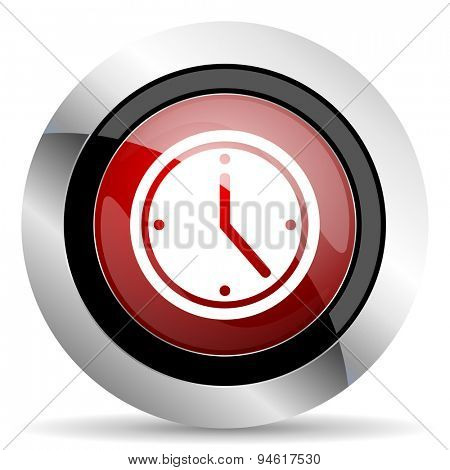 time red glossy web icon original modern design for web and mobile app on white background