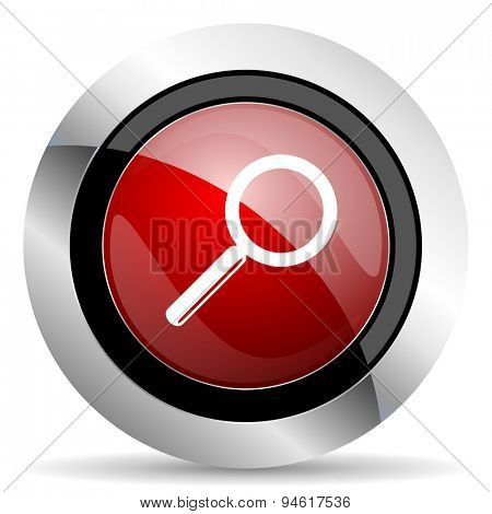 search red glossy web icon original modern design for web and mobile app on white background