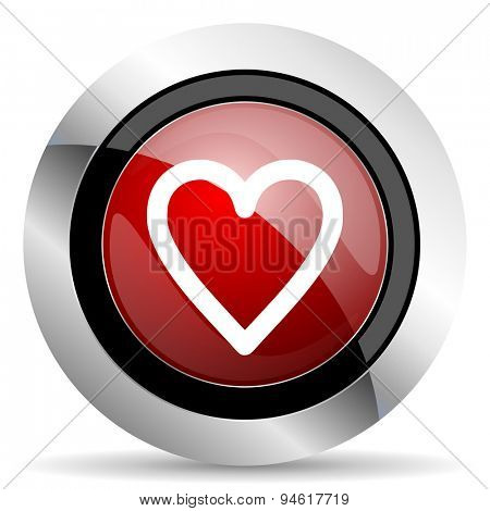 heart red glossy web icon original modern design for web and mobile app on white background