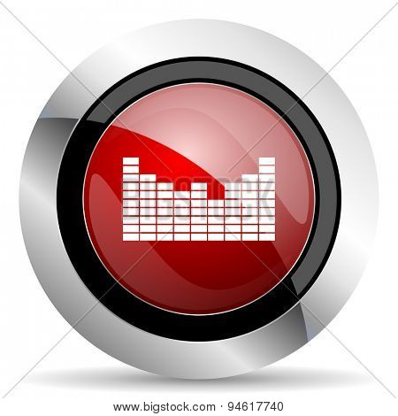 sound red glossy web icon original modern design for web and mobile app on white background