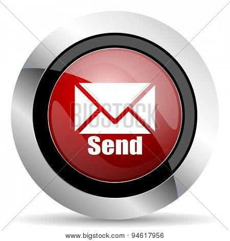 send red glossy web icon original modern design for web and mobile app on white background