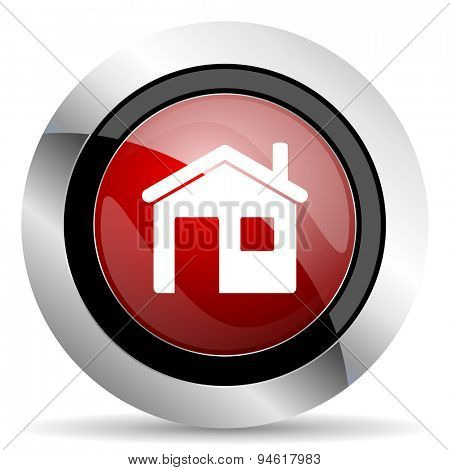 house red glossy web icon original modern design for web and mobile app on white background