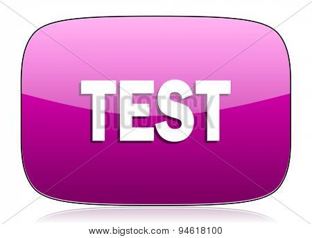 test violet icon  original modern design for web and mobile app on white background with reflection