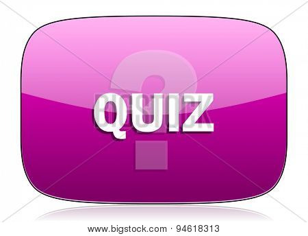 quiz violet icon  original modern design for web and mobile app on white background with reflection