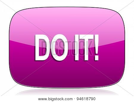 do it violet icon  original modern design for web and mobile app on white background with reflection