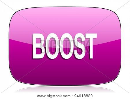 boost violet icon  original modern design for web and mobile app on white background with reflection