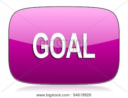 goal violet icon  original modern design for web and mobile app on white background with reflection