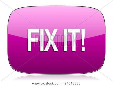 fix it violet icon  original modern design for web and mobile app on white background with reflection