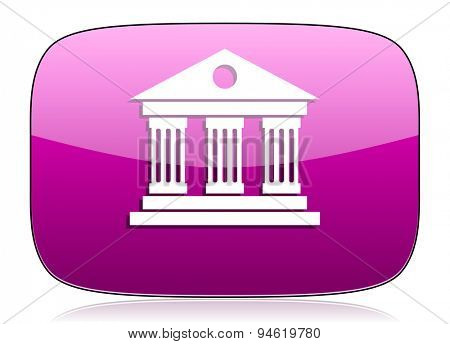 museum violet icon  original modern design for web and mobile app on white background with reflection