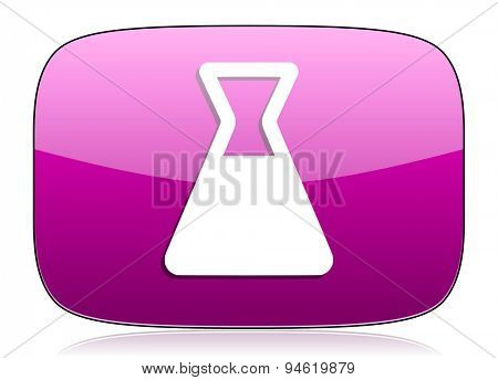 laboratory violet icon  original modern design for web and mobile app on white background with reflection
