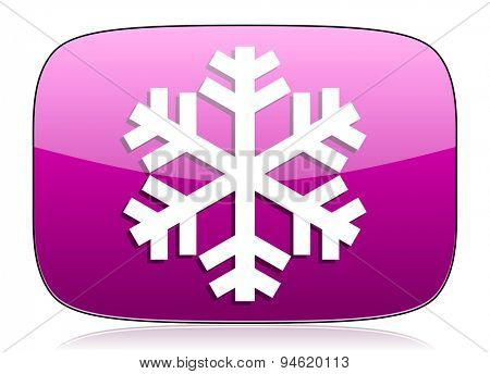 snow violet icon air conditioning sign original modern design for web and mobile app on white background with reflection