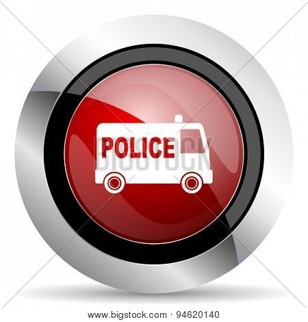 police red glossy web icon original modern design for web and mobile app on white background