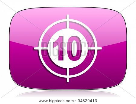 target violet icon  original modern design for web and mobile app on white background with reflection