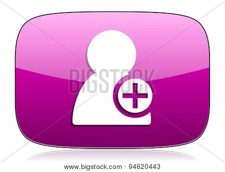 add contact violet icon