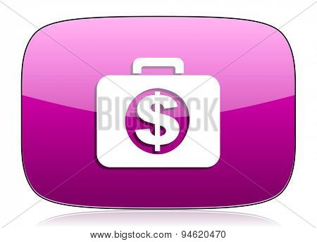 financial violet icon  original modern design for web and mobile app on white background with reflection