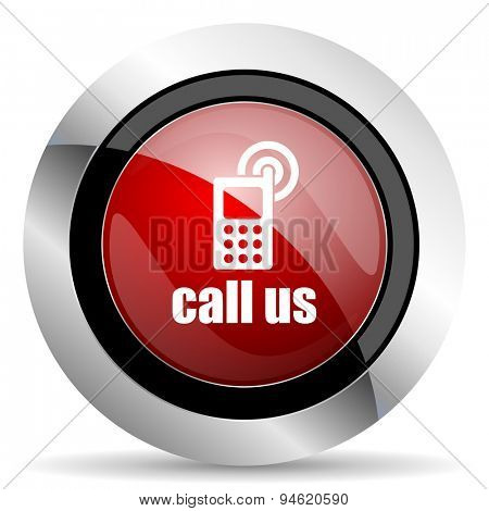 call us red glossy web icon original modern design for web and mobile app on white background