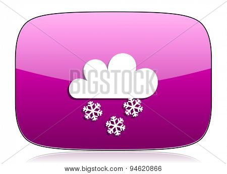 snowing violet icon waether forecast sign