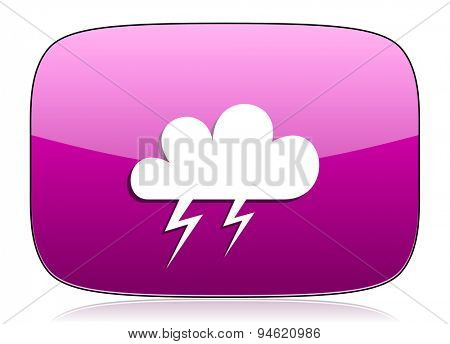 storm violet icon waether forecast sign