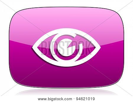 eye violet icon view sign