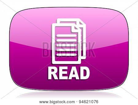 read violet icon