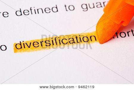 Diversification Word