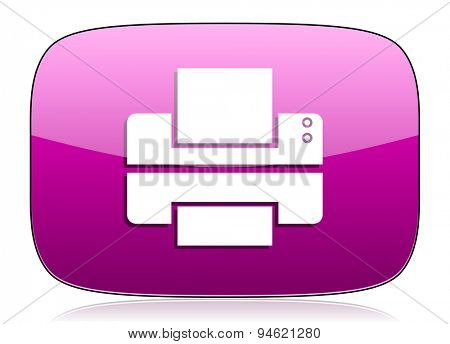printer violet icon print sign