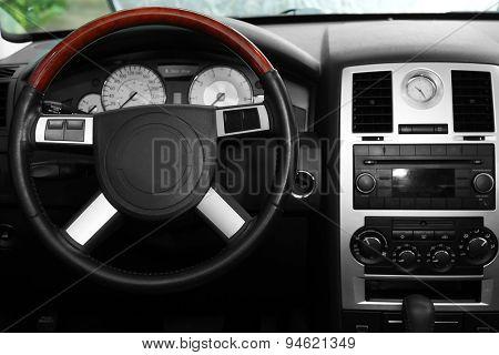 Modern car interior