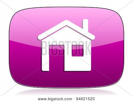 house violet icon home sign
