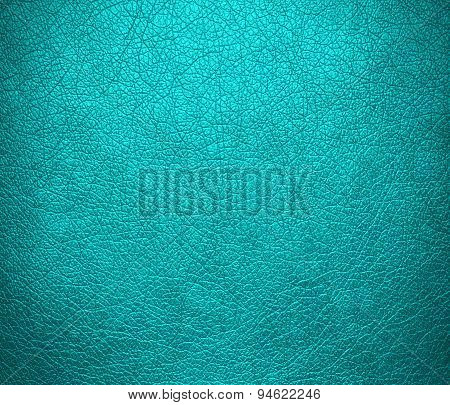 Dark turquoise leather texture background