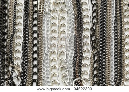 Silver Chains Metallic Necklace