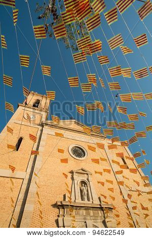 Church And Holiday Flags