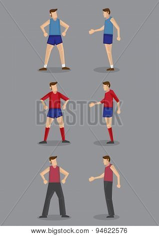 Sportswear For Men Vector Illustration