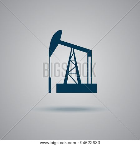 Oil, rig, vector, icon
