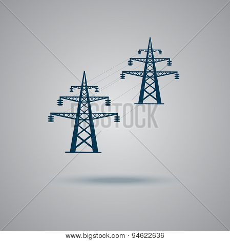 High, voltage, tower, line